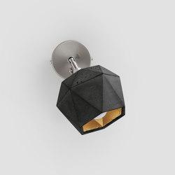 [T2] dark spot Concrete & Gold - Silver - Copper | Wall lights | GANTlights