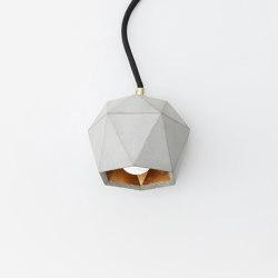 [T2] up Concrete & Gold - Silver - Copper | Table lights | GANTlights
