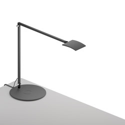 Mosso Pro Desk Lamp with wireless charging Qi base, Metallic Black   Table lights   Koncept