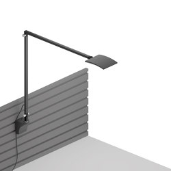 Mosso Pro Desk Lamp with slatwall mount, Metallic Black | Appliques murales | Koncept
