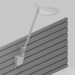 Splitty Desk Lamp with slatwall mount, Silver | Appliques murales | Koncept