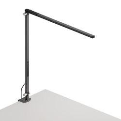 Z-Bar Solo Desk Lamp with one-piece desk clamp, Metallic Black   Table lights   Koncept