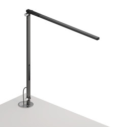Z-Bar Solo Desk Lamp with grommet mount, Metallic Black   Table lights   Koncept