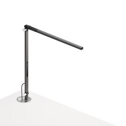 Z-Bar Solo mini Desk Lamp with grommet mount, Metallic Black | Lampade tavolo | Koncept