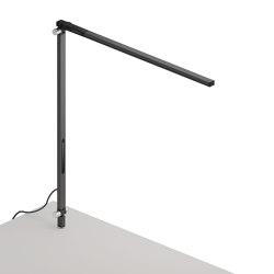 Z-Bar Solo Desk Lamp with through-table mount, Metallic Black | Table lights | Koncept