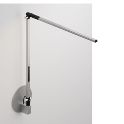 Z-Bar Solo Desk Lamp with hardwire wall mount, Silver | Wall lights | Koncept