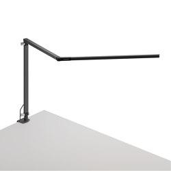 Z-Bar Desk Lamp with one-piece desk clamp, Metallic Black | Table lights | Koncept