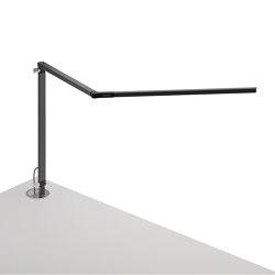 Z-Bar Desk Lamp with grommet mount, Metallic Black | Table lights | Koncept