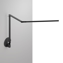 Z-Bar Desk Lamp with hardwire wall mount, Metallic Black | Wall lights | Koncept