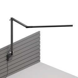 Z-Bar Desk Lamp with slatwall mount, Metallic Black | Wall lights | Koncept