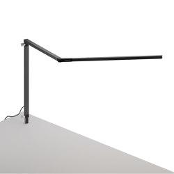 Z-Bar Desk Lamp with through-table mount, Metallic Black | Table lights | Koncept