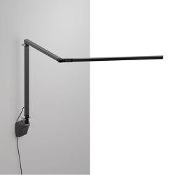 Z-Bar Desk Lamp with wall mount, Metallic Black | Appliques murales | Koncept