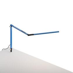 Z-Bar mini Desk Lamp with through-table mount, Blue | Table lights | Koncept
