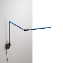 Z-Bar mini Desk Lamp with Metallic Black wall mount, Blue | Appliques murales | Koncept
