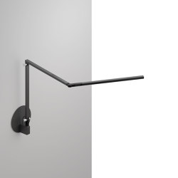 Z-Bar mini Desk Lamp with hardwire wall mount, Metallic Black | Wall lights | Koncept