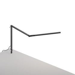 Z-Bar mini Lamp with through-table mount, Metallic Black | Table lights | Koncept