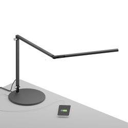 Z-Bar mini Desk Lamp with USB Base, Metallic Black | Table lights | Koncept