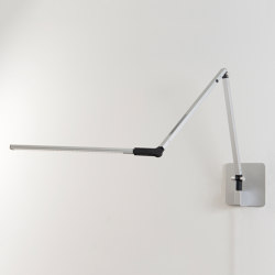Z-Bar mini Desk Lamp with hardwire wall mount, Silver | Appliques murales | Koncept