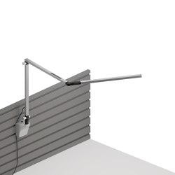 Z-Bar mini Desk Lamp with Silver slatwall mount, Silver | Appliques murales | Koncept