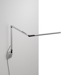 Z-Bar mini Desk Lamp with Silver wall mount, Silver | Appliques murales | Koncept