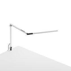 Z-Bar mini Desk Lamp with White one-piece desk clamp, White   Table lights   Koncept