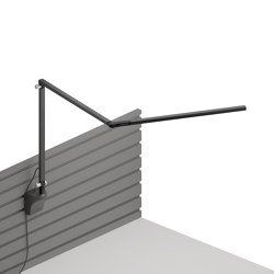 Z-Bar slim Desk Lamp with slatwall mount, Metallic Black | Wall lights | Koncept