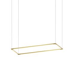 "Z-Bar Pendant Medium Rectangle, Gold (12""/36"" light bars) | Suspended lights | Koncept"