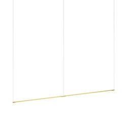 "Z-Bar Pendant Linear, Gold, 72"" (2 x 36"" light bars) | Suspended lights | Koncept"
