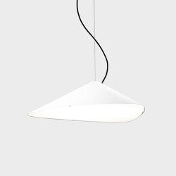 Emily IV semi-matte white   Suspended lights   Daniel Becker Studio