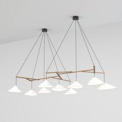 Emily Group of Nine semi-matte white | Lámparas de suspensión | Daniel Becker Studio