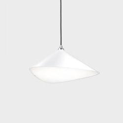 Emily II semi-matte white   Suspended lights   Daniel Becker Studio