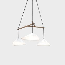 Emily Group of Three semi-matte white | Suspended lights | Daniel Becker Studio