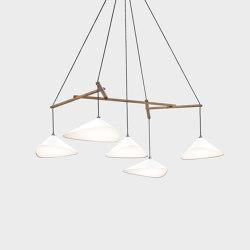 Emily Group of Five semi-matte white | Lámparas de suspensión | Daniel Becker Studio