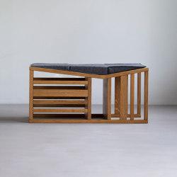 Bench | oak, wool felt | Toys | Zaunkönig