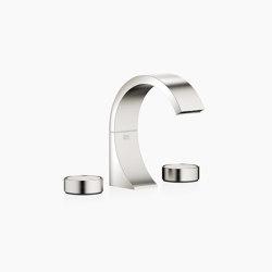 CYO - Three-hole basin mixer with pop-up waste - platinum / platinum matt | Wash basin taps | Dornbracht