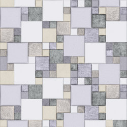 Pattern 2 Luxury Silver | Leather tiles | Studioart
