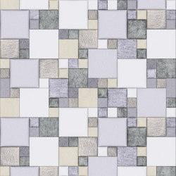 Pattern 2 Luxury Silver | Leder Fliesen | Studioart