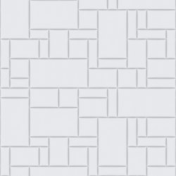 PATTERN 6 City Bianco Ottico | Leather tiles | Studioart