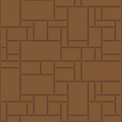 PATTERN 6 City Cognac | Leather tiles | Studioart