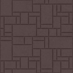 PATTERN 6 Velluto Dusty Grape | Leder Fliesen | Studioart