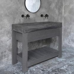 Diamond Grande Dusk Grey Concrete Sink - Basin - Washbasin | Wash basins | ConSpire