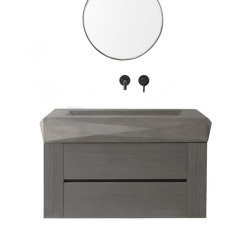 Diamond Mezzo Dusk Grey Concrete Basin - Sink - Vessel - Washbasin | Wash basins | ConSpire