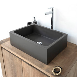 Florentina Dark Grey Concrete Basin - Sink - Vessel - Washbasin | Wash basins | ConSpire