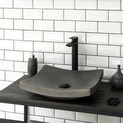 Genova Dusk Grey Concrete Basin - Sink - Vessel - Washbasin | Wash basins | ConSpire