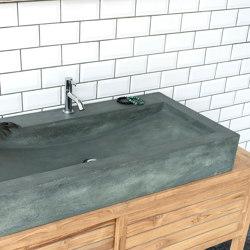 Horizon Copper Green Concrete Basin - Sink - Vessel - Washbasin | Wash basins | ConSpire