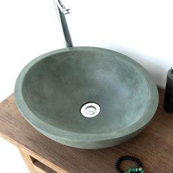 Luca Copper Green Concrete Basin - Sink - Vessel - Washbasin | Wash basins | ConSpire