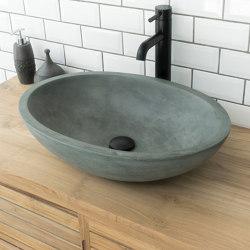 Luca Grande Copper Green Concrete Basin - Sink - Vessel - Washbasin | Wash basins | ConSpire