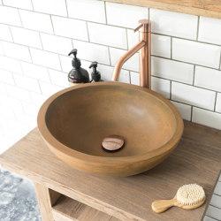 Luca Vintage Brown Concrete Basin - Sink - Vessel - Washbasin | Wash basins | ConSpire