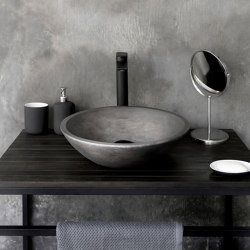 Messina Dusk Grey Concrete Basin - Sink - Vessel - Washbasin | Wash basins | ConSpire