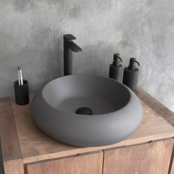 Milano Dark Grey Concrete Basin - Sink - Vessel - Washbasin | Wash basins | ConSpire